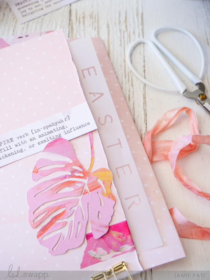 DIY Easter Flipbook With Stitched Tag Holder by Jamie Pate