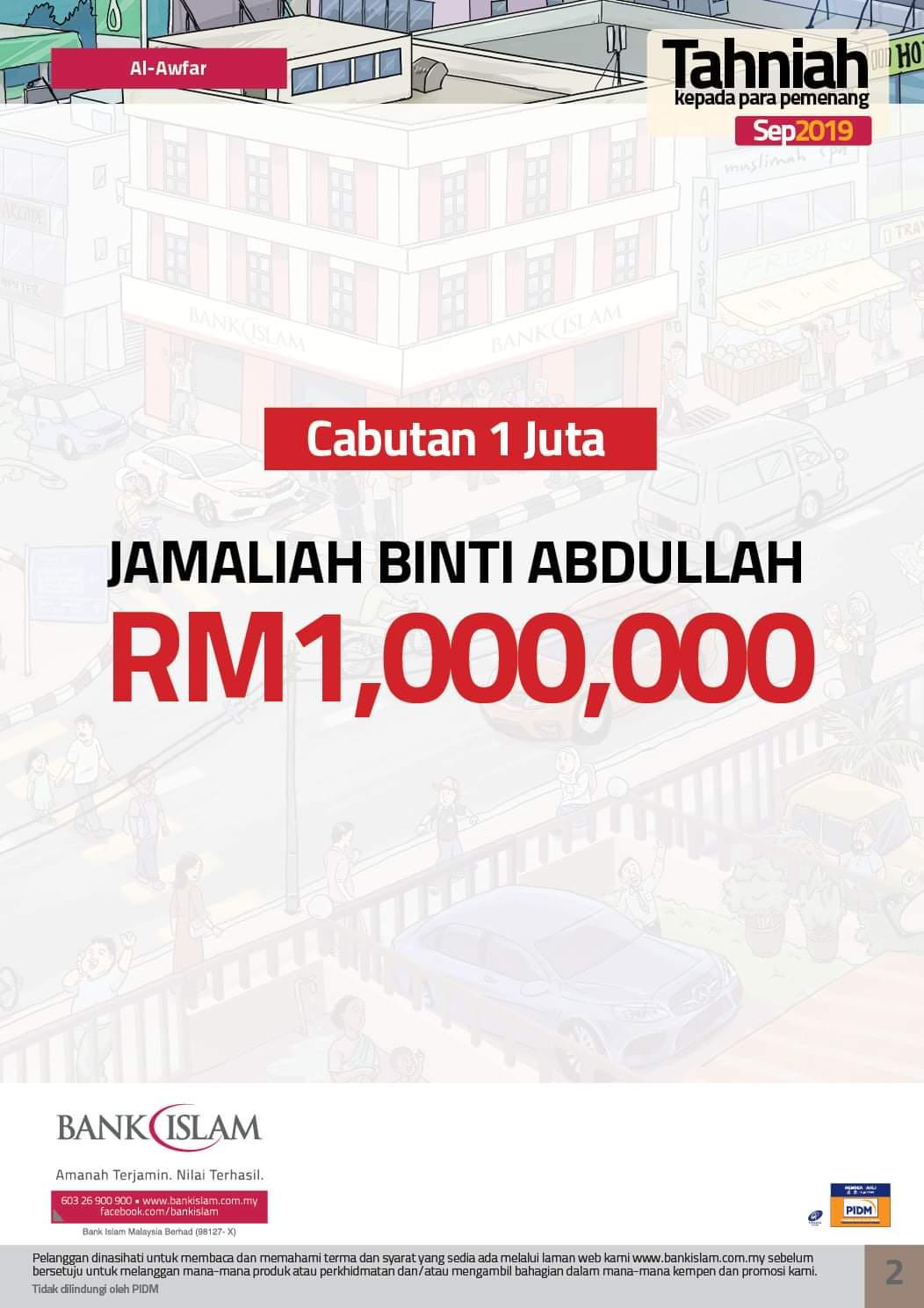 Keputusan Cabutan September 2019 Al-Awfar Bank Islam ...