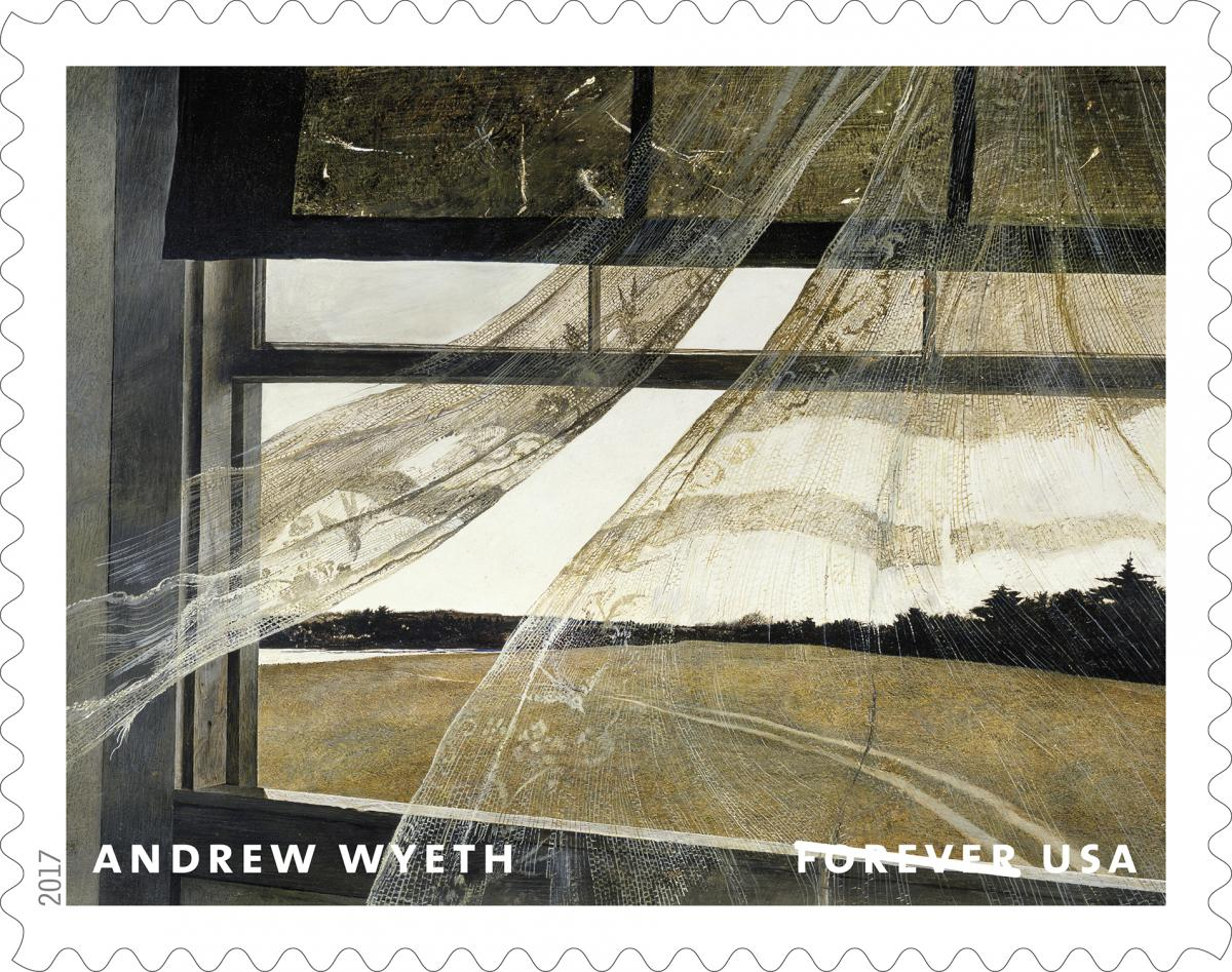 updated andrew wyeth centennial birthday celebrated with us postal service stamp roll out 11am tomorrow at brandywine river museum