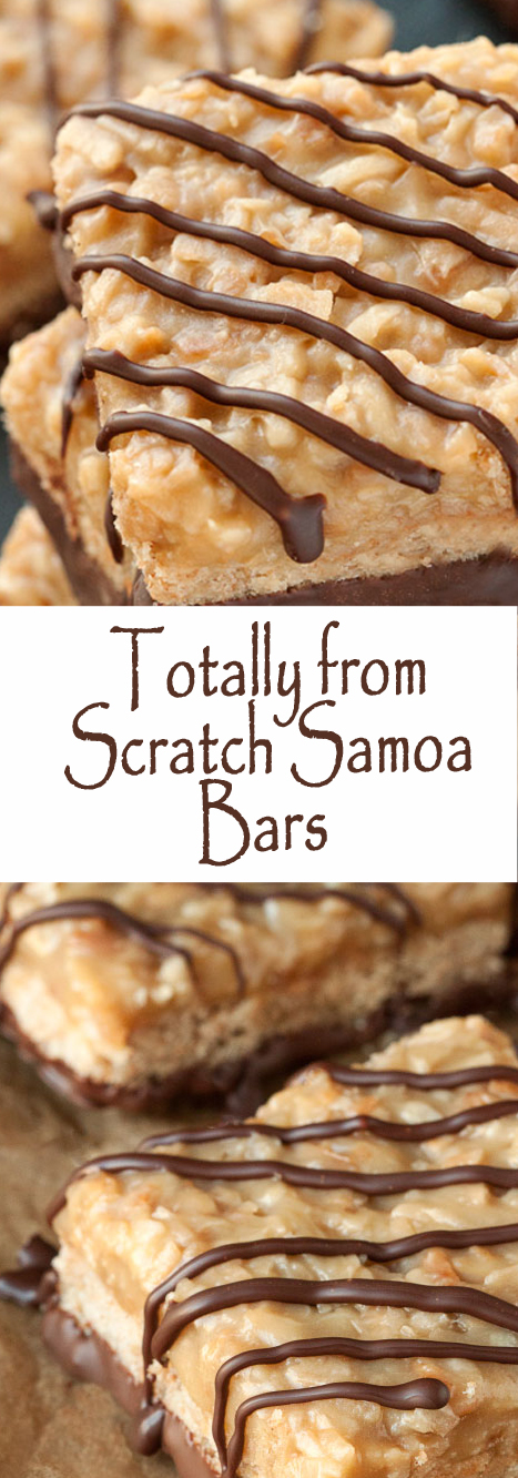 Totally from Scratch Samoa Bars (100% whole grain) #bars #cookies