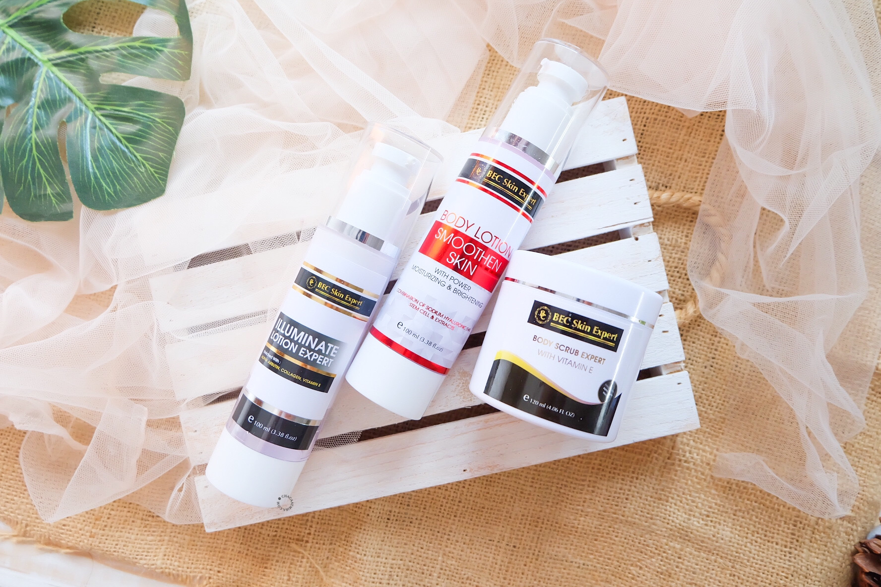 Review Body Scrub Expert, Body Lotion Smoothen Skin dan Illuminate Lotion Expert dari BEC Skin Expert