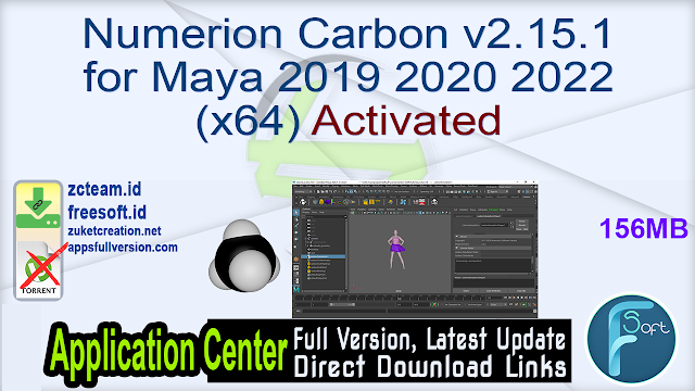 Numerion Carbon v2.15.1 for Maya 2019 2020 2022 (x64) Activated_ ZcTeam.id