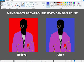 Cara Mengganti Background Foto di Paint