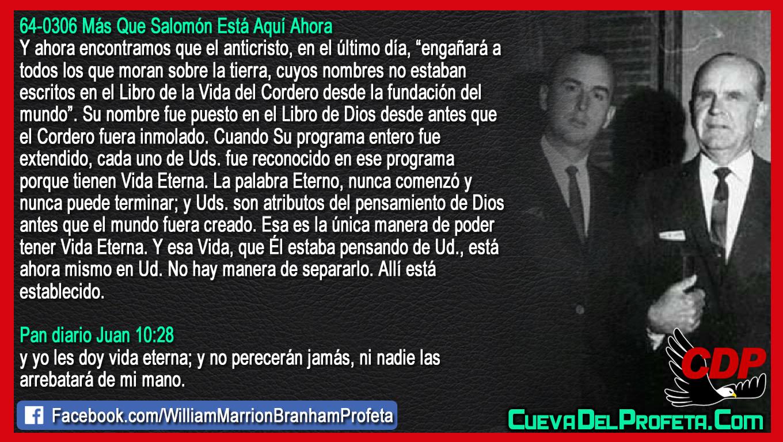 La única manera de poder tener Vida Eterna - William Branham en Español