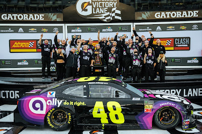 Team Jimmie Johnson in Victory Lane (#NASCAR)