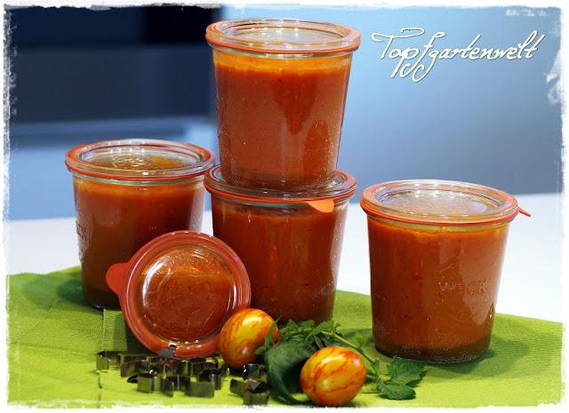 Tomatensugo im Weckglas