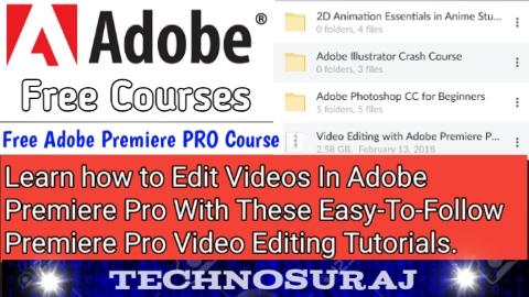 Free Adobe Premiere PRO Course