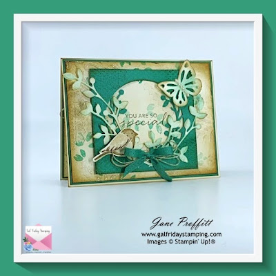 A bit of a vintage feel using the Birds & Branches Stamp set from Stampin' Up!  Sending a special message.