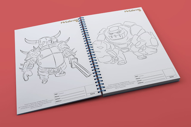printable clash of clans pekka knight golem monster template outline coloriage coloring pages book pdf pictures to print out for kids to color fun teens boys kindergarten adult