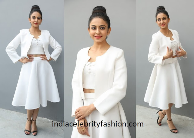 Rakul Preet Singh in Land of August White Dress