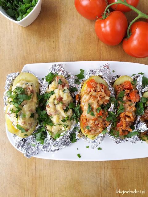 Faszerowane ziemniaki z grilla przepis