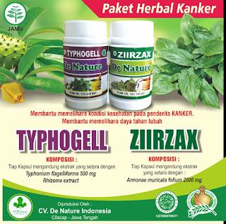 paket obat kanker de nature ziirzak dan typhogel