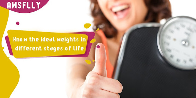 Know the ideal weights in different stages of life
