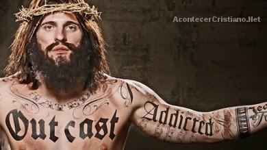 Jesús con tatuajes en publicidad