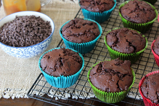 Double Chocolate and Salted Caramel Muffins