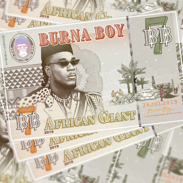 Burna Boy's ''African Giant'' is No.2 on UK Apple Music Albums Chart, Surpassing Beyonce, Chris Brown, NF, Ariana Grade Albums