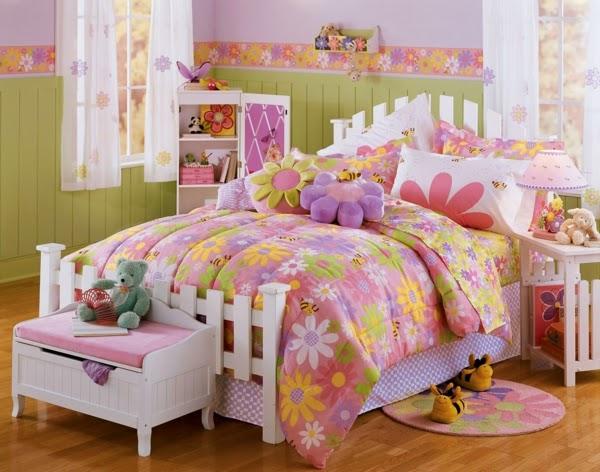 dormitorio niña diseños florales