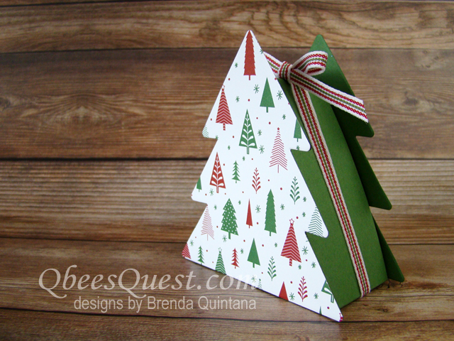 Qbees Quest Christmas Tree Boxes Tutorial