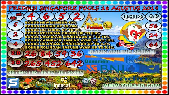 PREDIKSI SINGAPORE POOLS 18 AGUSTUS 2019