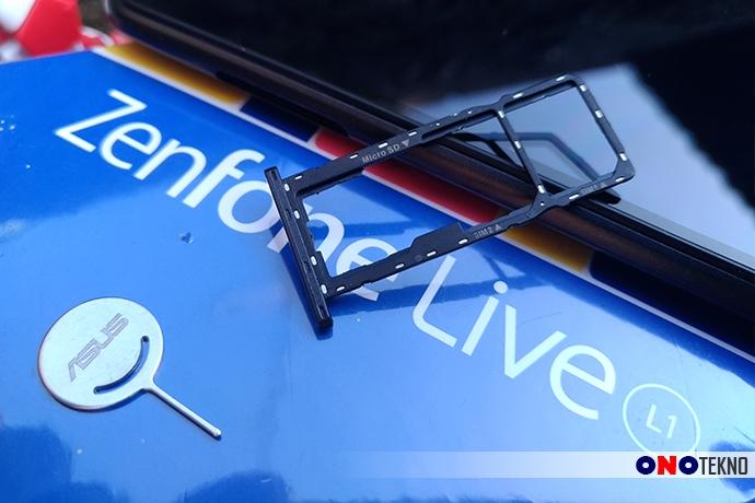 Triple Slot 2 SIM dan MicroSD Zenfone Live L1
