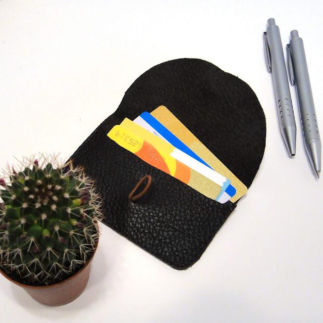 Визитница кожа карманная - подарок коллеге, ручная работа. Единственный экземпляр, доставка почтой или курьером