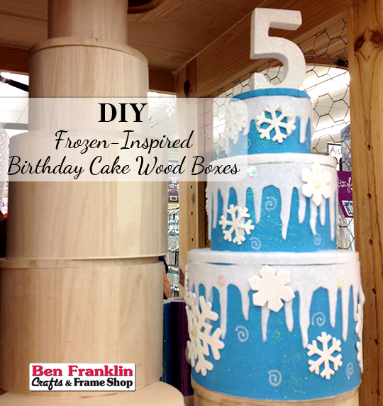 "DIY ""Frozen"" Inspired Birthday Cake Wood Boxes"