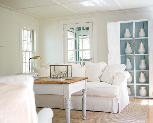 white cottage living room