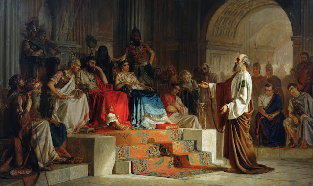 Апостол Павел на съд - Николай Бодаревски, 1875 г.