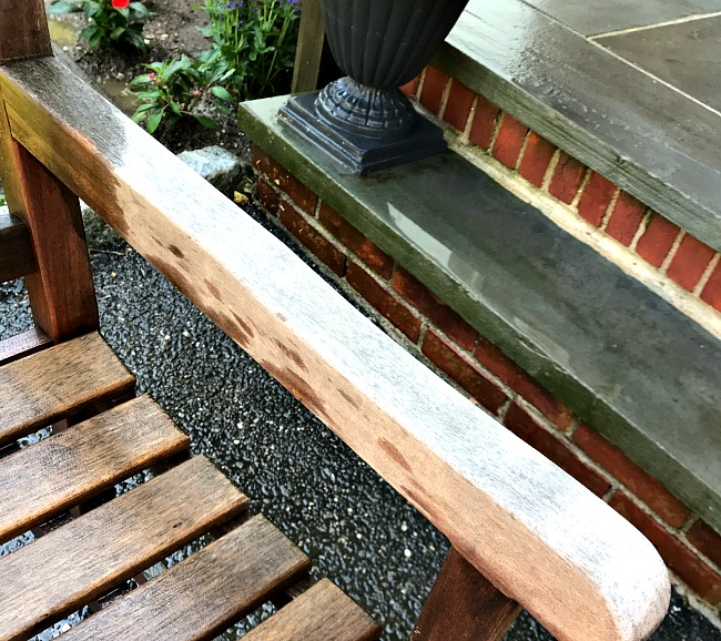 Cleaning and protecting a Teak Bench