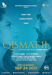 Qismat 2 Box Office Collection - Here is the Qismat 2 Punjabi movie cost, profits & Box office verdict Hit or Flop, wiki, Koimoi, Wikipedia, Qismat 2, latest update Budget, income, Profit, loss on MT WIKI, Bollywood Hungama, box office india