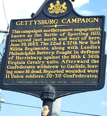 Gettysburg Campaign Historical Marker in Cumberland County, Pennsylvania