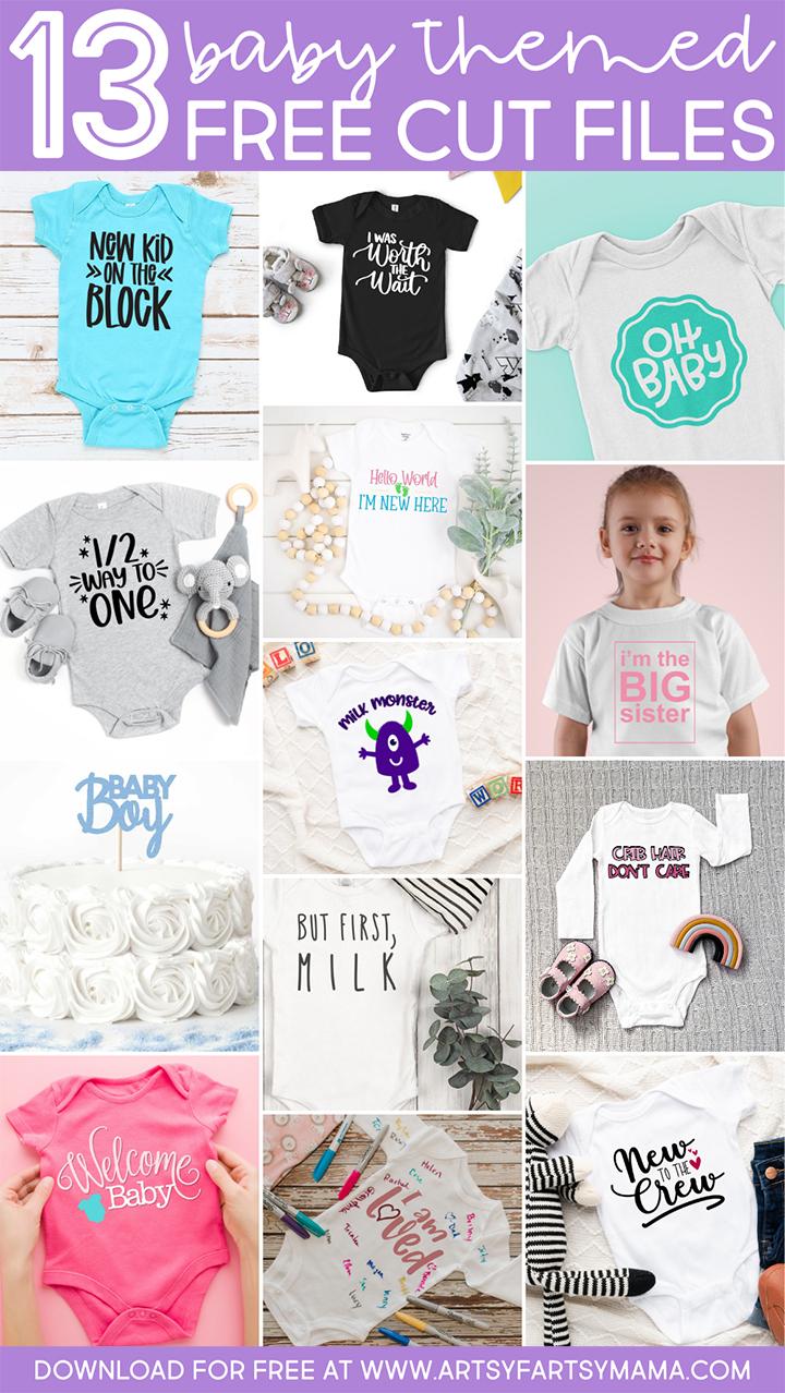 13 Free Baby Cut Files