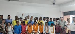 सतीश पाठक चुने गए प्राथमिक शिक्षक संघ के जिला मंत्री    #NayaSaberaNetwork