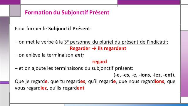 Subjonctif - zasady tworzenia 8 - Francuski przy kawie