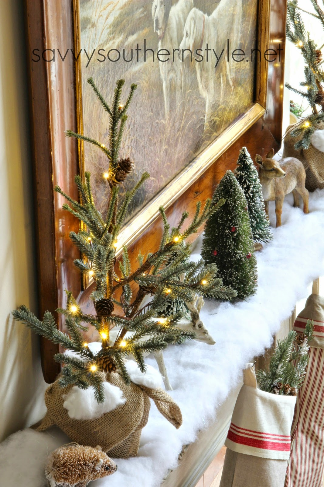 Savvy Southern Style Into The Woods Christmas Mantel