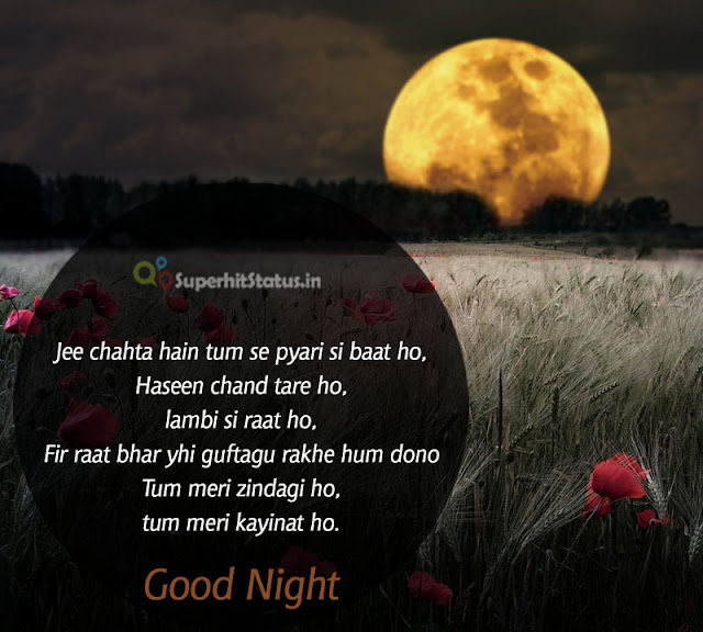 SMS of Good Night Shayari in Hindi
