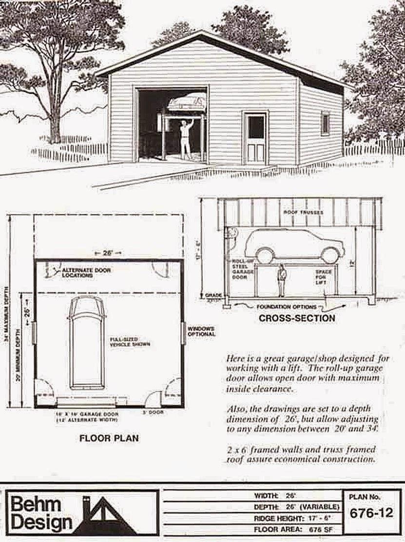 Garage Plans Blog Behm Design Garage Plan Examples August 2014 – 24 X 26 Garage Plans