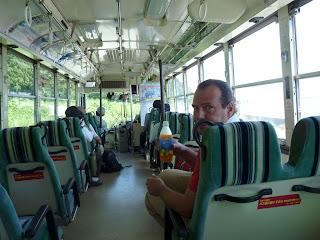 佐渡交通の路線バス内