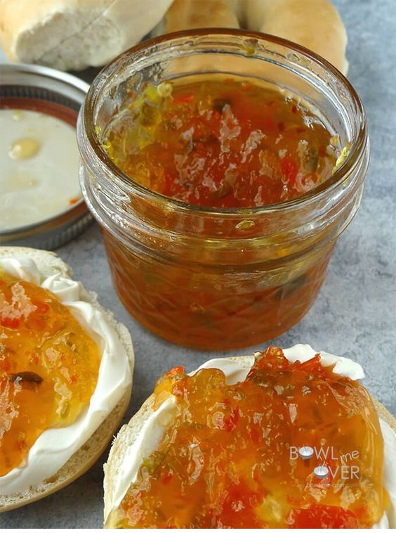 Sweet and Spicy Christmas Pepper Jam