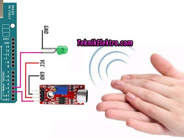 Modul Sensor Suara untuk menyalakan lampu dengan tepuk tangan