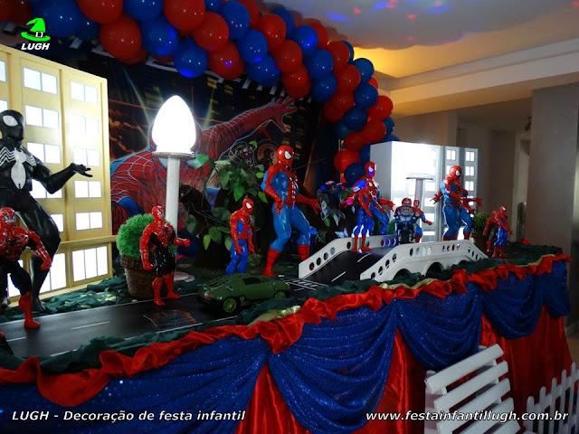 Decoração tema Homem Aranha - aniversário infantil