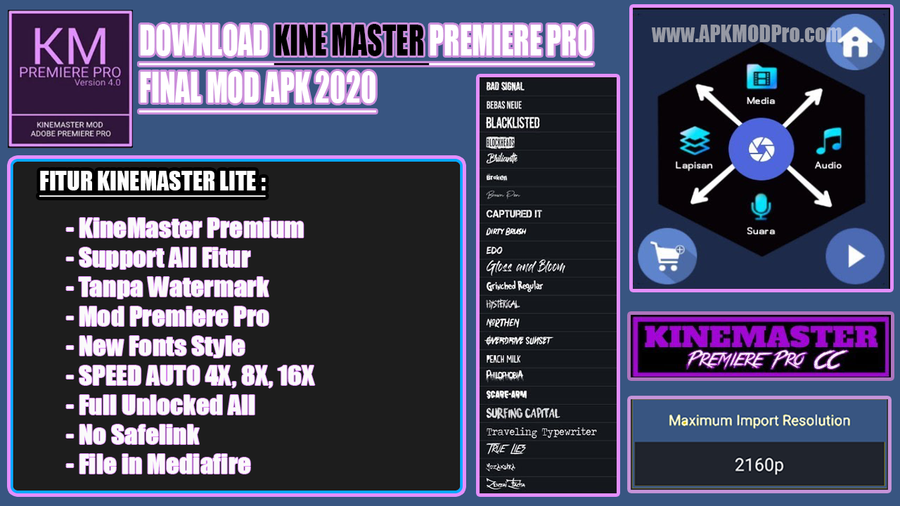 KineMaster Premiere Pro CS6 Final MOD APK 2020