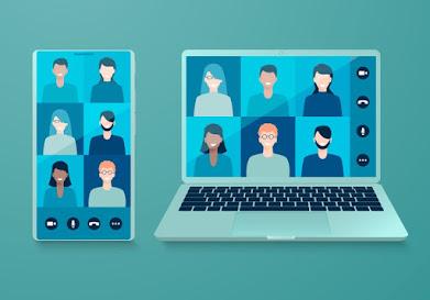 Imatge amb icones sobre videoconferència