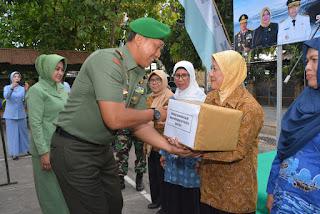 Anjangsana HUT TNI ke 74, Danrem 162/WB Tegaskan Siap Melanjutkan Perjuangan Para Sepuh TNI