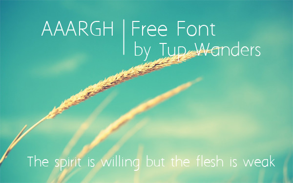Aaargh, font, gratis