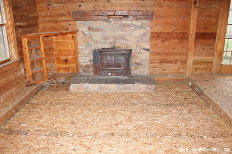 'Before' photo of our living room when we first purchased our fixer upper!