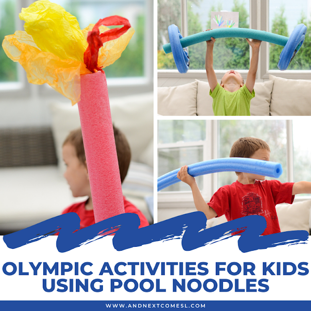 Pool noodle Olympic activities for kids