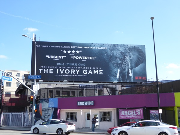 Ivory Game documentary consideration billboard