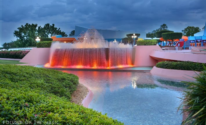 Epcot Backward Waterfall HDR