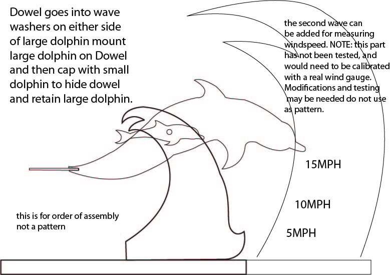 Free Patterns and ideas: Dolphin whirligig wind gauge